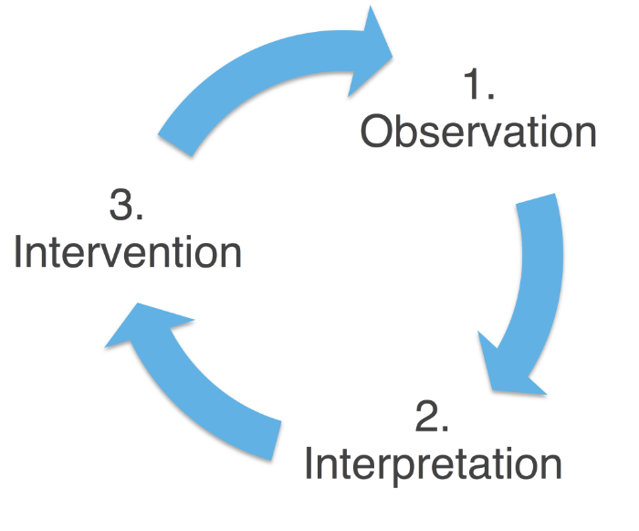 Observe-Interpret-Intervene-Cycle