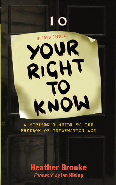 Your Right to Know by Heather Brooke